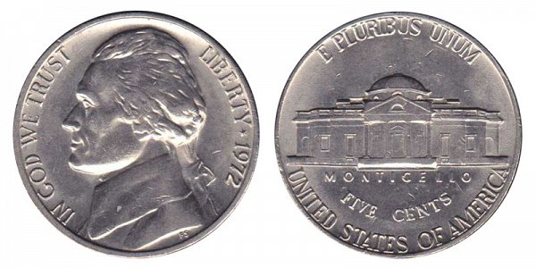 1972 Jefferson Nickel