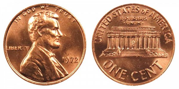 1972 Lincoln Memorial Cent Penny