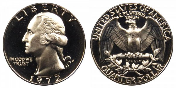 1972 S Washington Quarter Proof