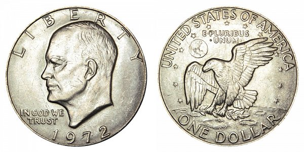 1972 Type 1 Eisenhower Ike Dollar