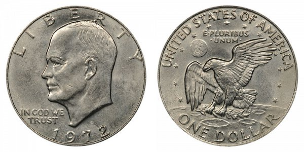 1972 Type 2 Eisenhower Ike Dollar