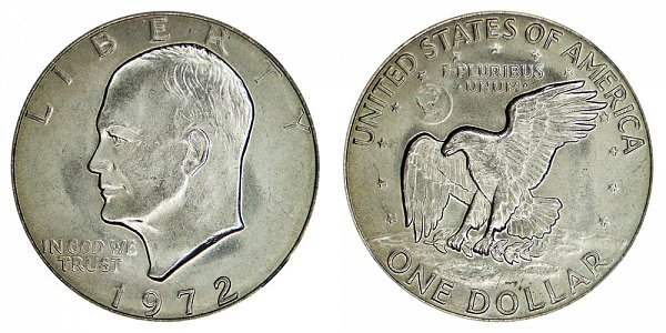 1972 Type 3 Eisenhower Ike Dollar