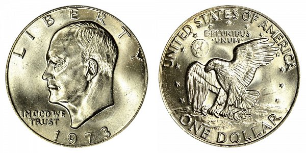 1973 D Eisenhower Ike Dollar