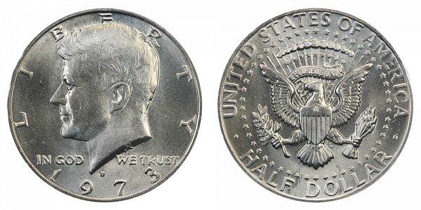 1973 D Kennedy Half Dollar