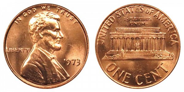 1973 Lincoln Memorial Cent Penny