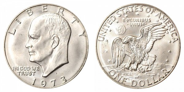 1973 S Silver Eisenhower Ike Dollar - Brilliant Uncirculated