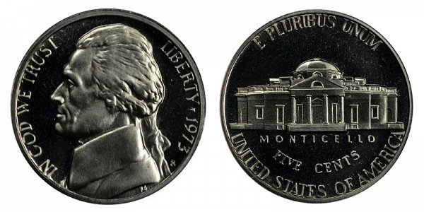 1973 S Jefferson Nickel Proof