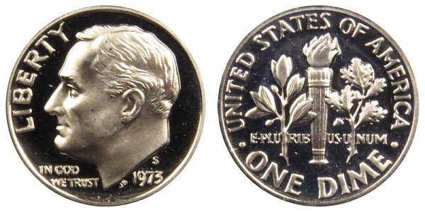 1973 S Roosevelt Dime Proof