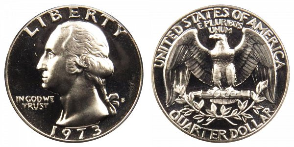 1973 S Washington Quarter Proof