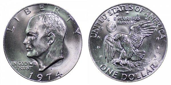 1974 D Eisenhower Ike Dollar