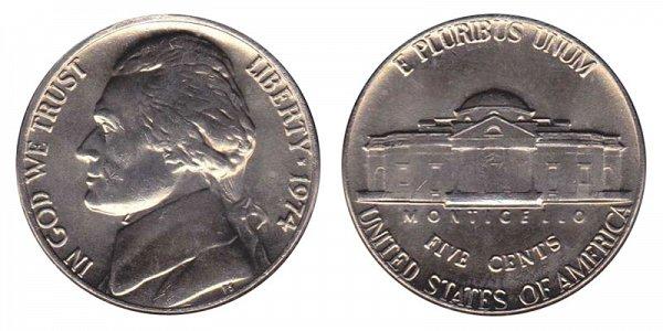 1974 Jefferson Nickel
