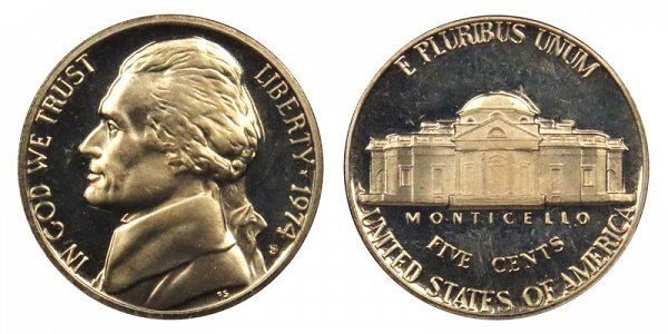 1974 S Jefferson Nickel Proof