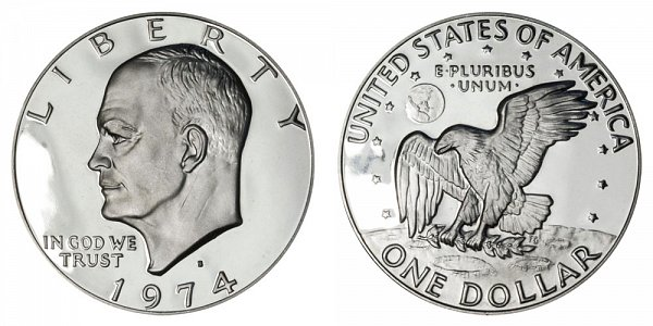 1974 S Copper-Clad Eisenhower Ike Dollar Proof