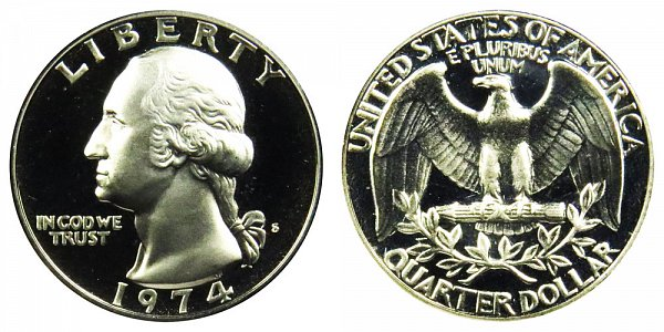 1974 S Washington Quarter Proof