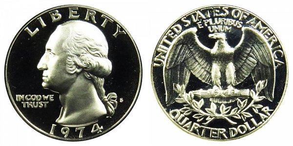 1974 S Washington Quarter Proof