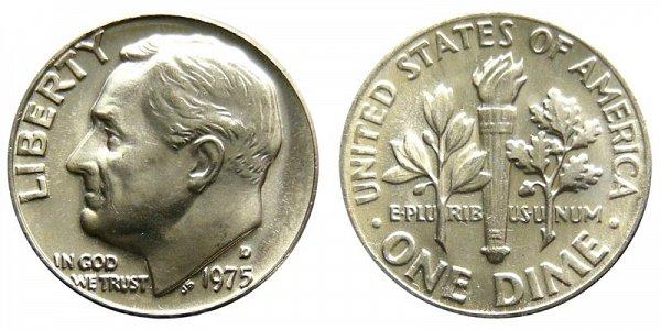 1975 D Roosevelt Dime