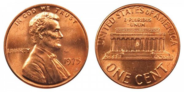 1975 Lincoln Memorial Cent Penny