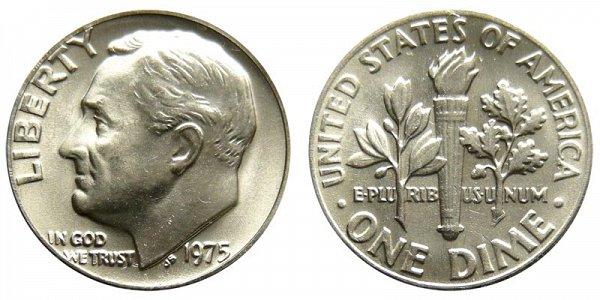 1975 Roosevelt Dime