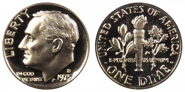 1975 S Roosevelt Dime Proof
