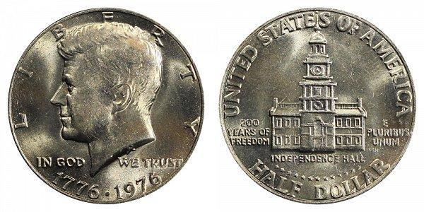1776-1976 Bicentennial Kennedy Half Dollar