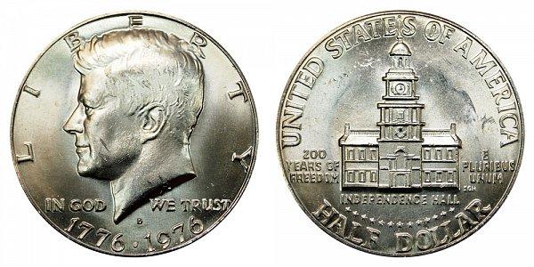 1776-1976 D Bicentennial Kennedy Half Dollar