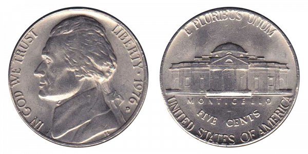 1976 D Jefferson Nickel