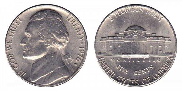 1976 D Jefferson Nickel