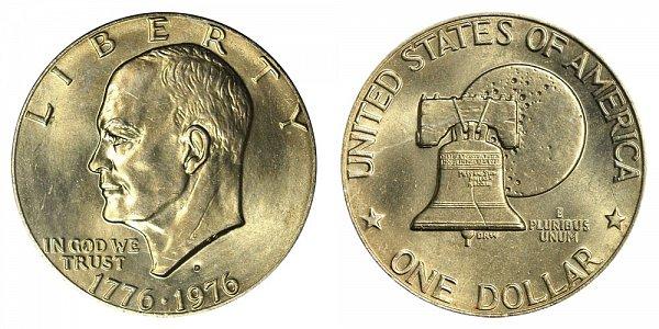 1976 D Type 2 Bicentennial Eisenhower Ike Dollar Proof