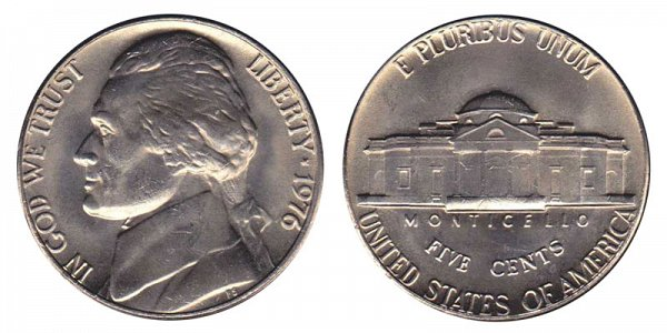 1976 Jefferson Nickel