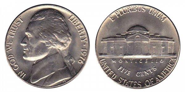1976 Jefferson Nickel