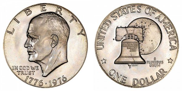 1976 No S Type 2 Eisenhower Ike Dollar