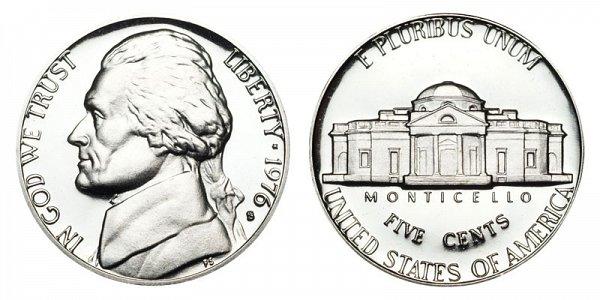 1976 S Jefferson Nickel Proof