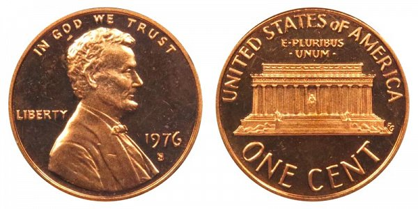 1976 S Lincoln Memorial Cent Penny Proof