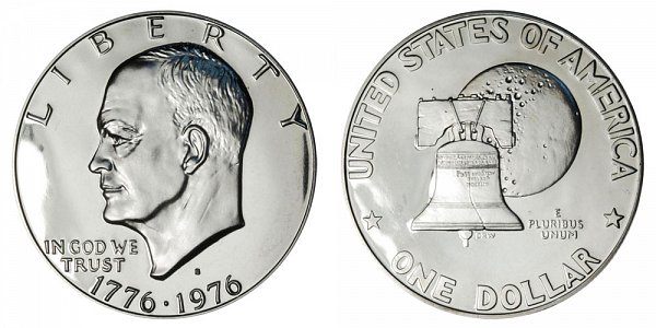 1976 S Type 1 Bicentennial Eisenhower Ike Dollar Proof