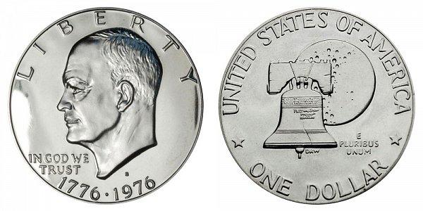 1976 S Type 2 Bicentennial Eisenhower Ike Dollar
