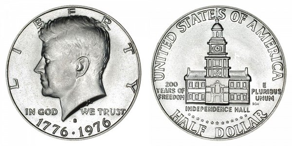 1776-1976 S Bicentennial Kennedy Half Dollar - 40% Silver Uncirculated Edition