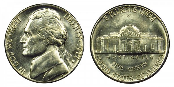 1977 D Jefferson Nickel