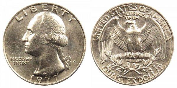 1977 D Washington Quarter