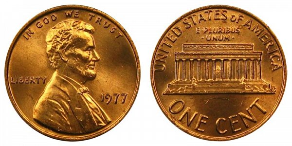 1977 Lincoln Memorial Cent Penny