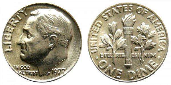 1977 Roosevelt Dime