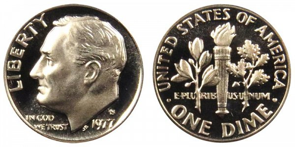 1977 S Roosevelt Dime Proof