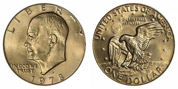1978 D Eisenhower Ike Dollar