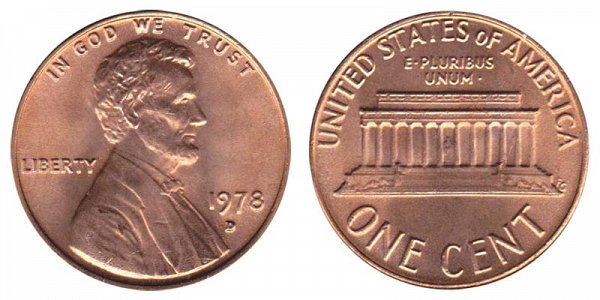 1978 D Lincoln Memorial Cent Penny