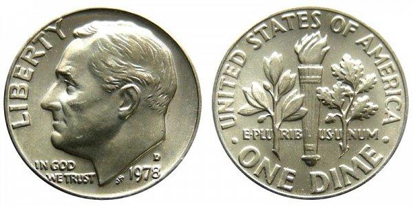 1978 D Roosevelt Dime