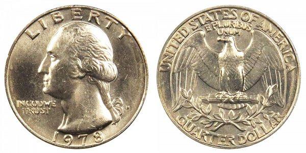1978 D Washington Quarter