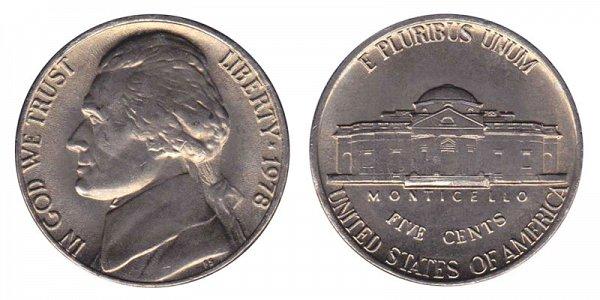 1978 Jefferson Nickel