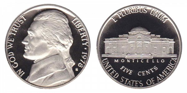 1978 S Jefferson Nickel Proof