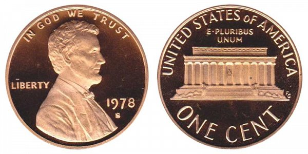 1978 S Lincoln Memorial Cent Penny Proof