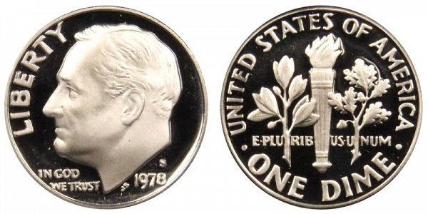 1978 S Roosevelt Dime Proof