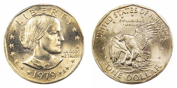 1979 D Susan B Anthony SBA Dollar